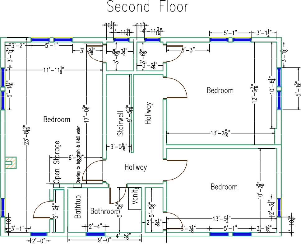 Second Floor Initial Drawing